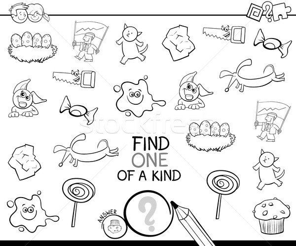 find one picture of a kind coloring page Stock photo © izakowski