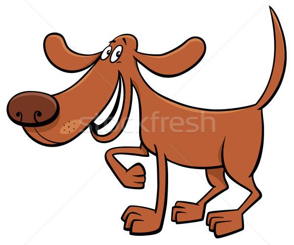 Boldog kutya rajzfilmfigura rajz illusztráció állat Stock fotó © izakowski