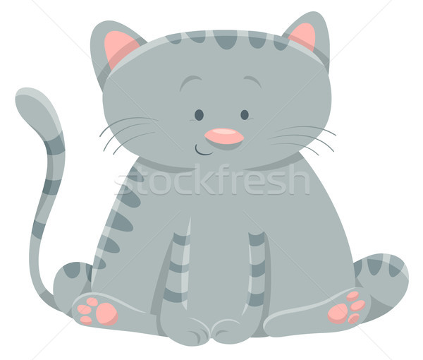 domestic cat cartoon character Stock photo © izakowski