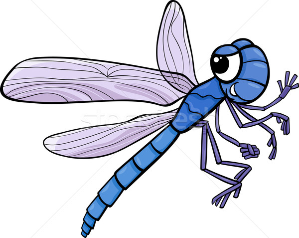 dragonfly insect cartoon illustration Stock photo © izakowski