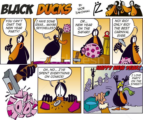 Black Ducks Comics episode 34 Stock photo © izakowski