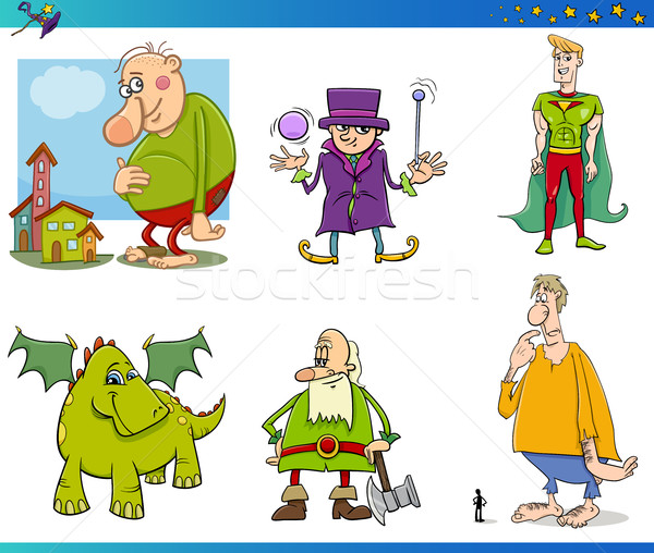fantasy characters set Stock photo © izakowski