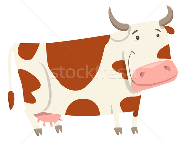 cute cow farm animal character Stock photo © izakowski