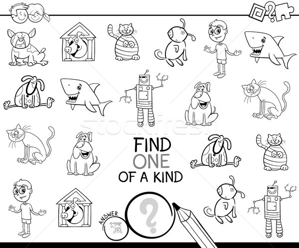 find one picture of a kind coloring game Stock photo © izakowski