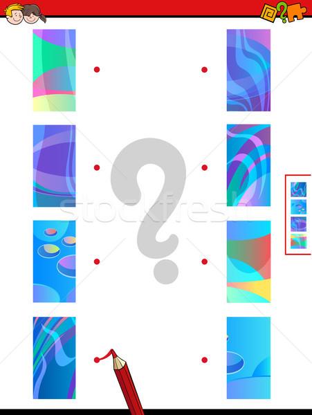 join halves game of abstract pictures Stock photo © izakowski