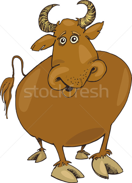 funny bull Stock photo © izakowski