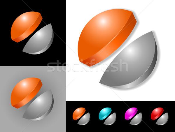 Résumé design graphique 3D icône symbole fond Photo stock © izakowski
