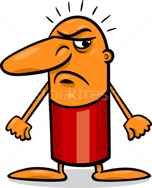 angry guy cartoon illustration Stock photo © izakowski