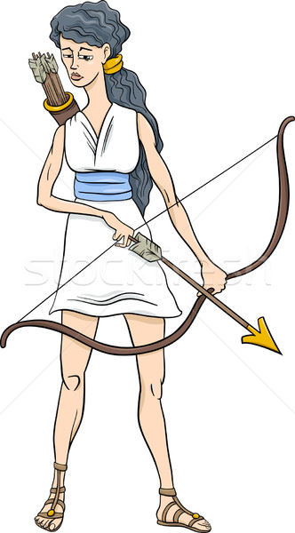 greek goddess artemis cartoon Stock photo © izakowski
