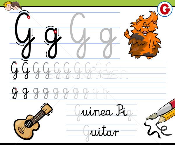 how to write letter g Stock photo © izakowski