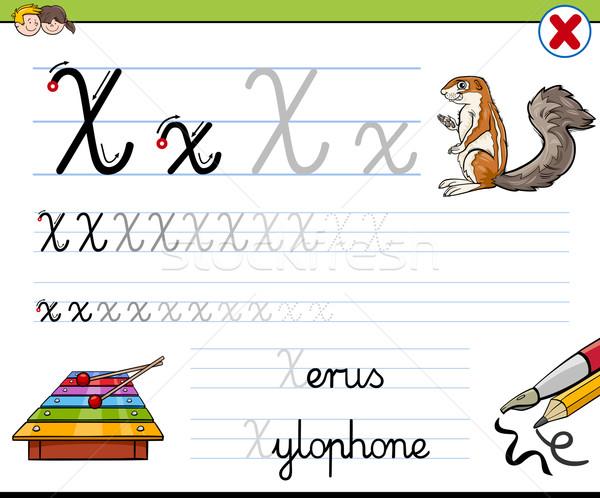 how to write letter x Stock photo © izakowski