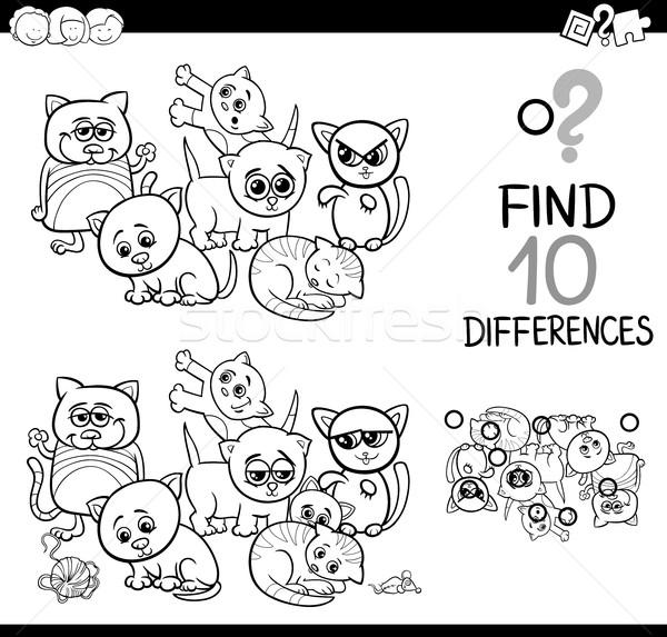 違い ゲーム 子猫 黒白 漫画 実例 ストックフォト © izakowski
