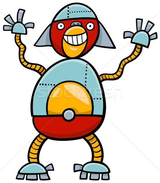 Ape robot cartoon illustration science-fiction Photo stock © izakowski