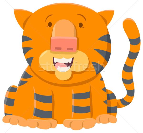 tiger cartoon animal character Stock photo © izakowski