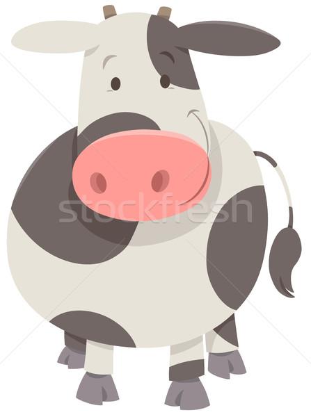 Sevimli inek karikatür örnek mutlu Stok fotoğraf © izakowski