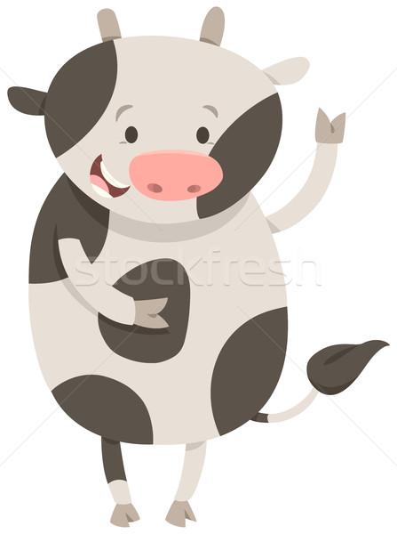 Aranyos tehén állat rajz illusztráció haszonállat Stock fotó © izakowski