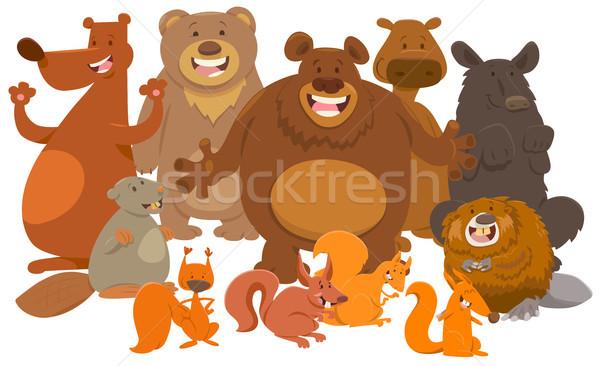 Wild zoogdieren dier cartoon illustratie Stockfoto © izakowski