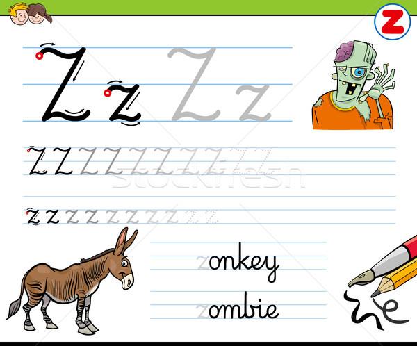 how to write letter Z worksheet for kids Stock photo © izakowski