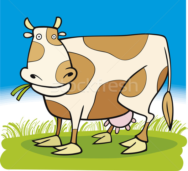 Farm animals: Cow Stock photo © izakowski