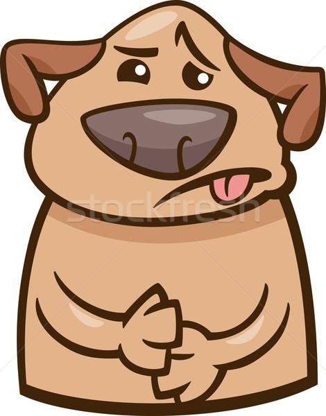 Stato d'animo malati cane cartoon illustrazione divertente Foto d'archivio © izakowski