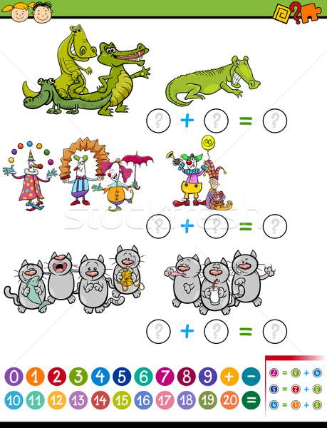 Tarea ninos Cartoon ilustración educación Foto stock © izakowski