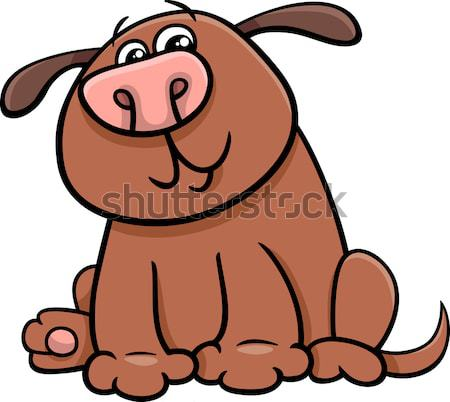 barking or howling bulldog cartoon character Stock photo © izakowski
