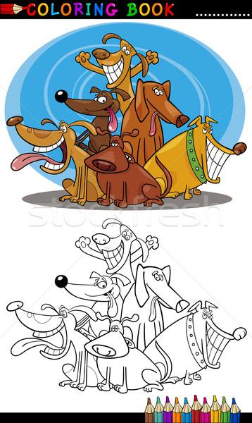 漫画 犬 塗り絵の本 実例 面白い ストックフォト © izakowski