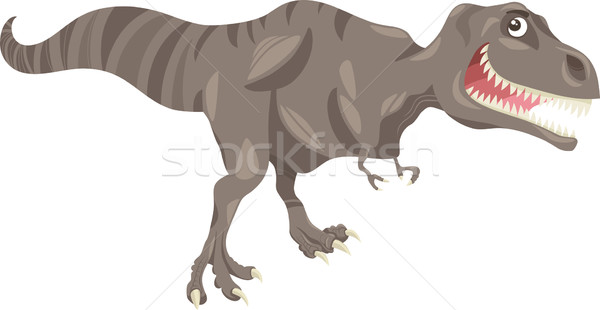tyrannosaurus dinosaur cartoon illustration Stock photo © izakowski