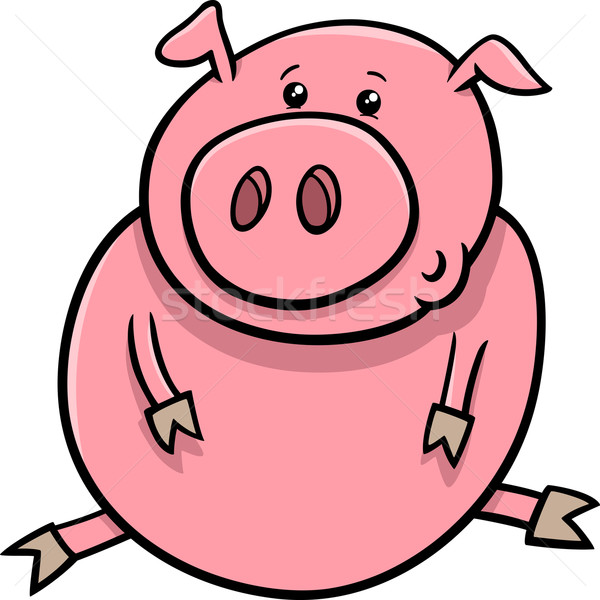 Peu porc porcelet cartoon illustration cute Photo stock © izakowski