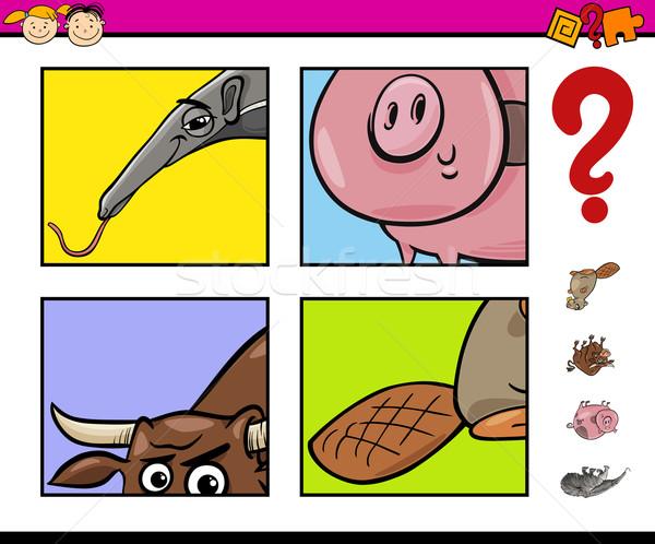 タスク 動物 漫画 実例 幼稚園 ストックフォト © izakowski