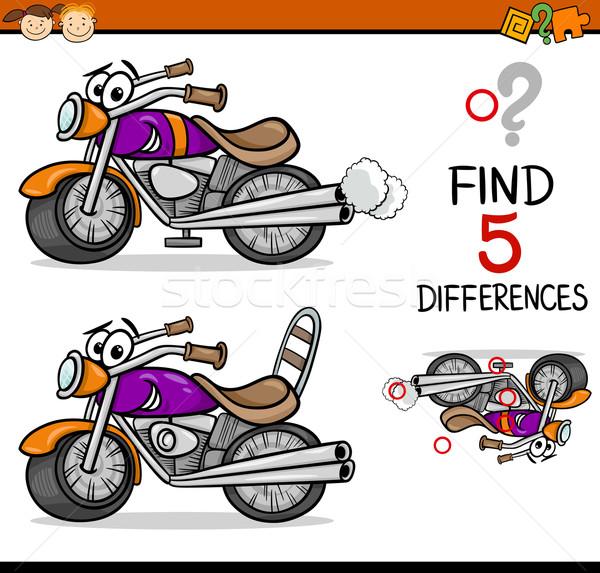 Bulmak farklılıklar oyun karikatür örnek Stok fotoğraf © izakowski