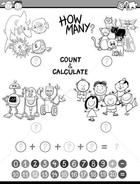 math avtivity coloring book Stock photo © izakowski