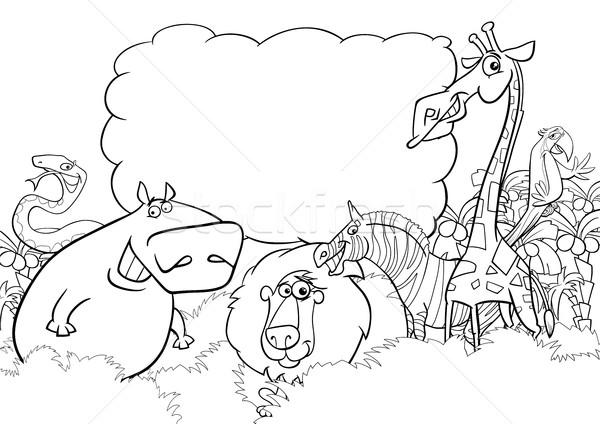 wild animals coloring page Stock photo © izakowski