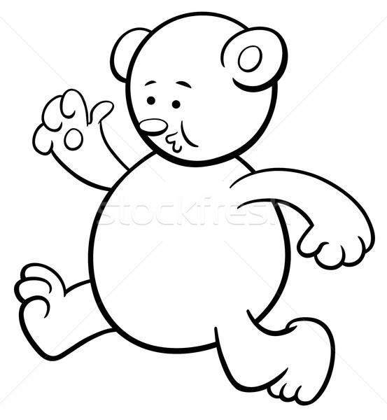 running bear coloring page Stock photo © izakowski