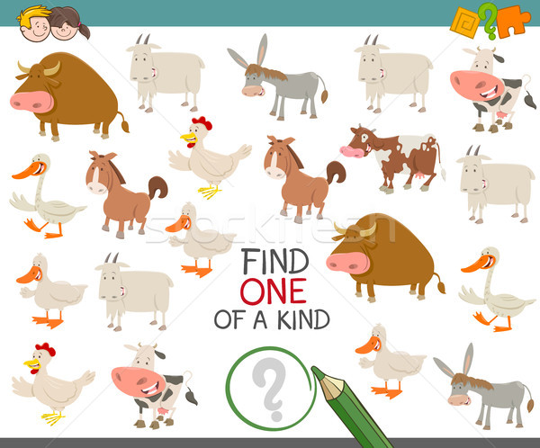 find one of a kind with farm animals Stock photo © izakowski