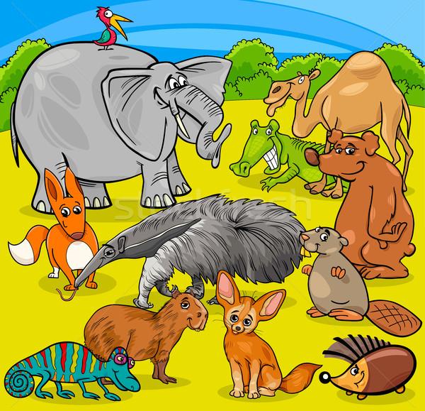 cartoon animal characters group Stock photo © izakowski
