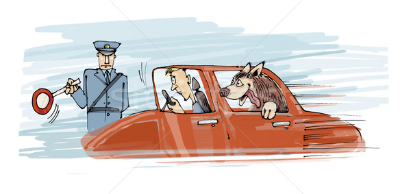 too speed dog Stock photo © izakowski