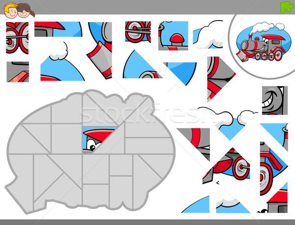 игры локомотив Cartoon иллюстрация Сток-фото © izakowski