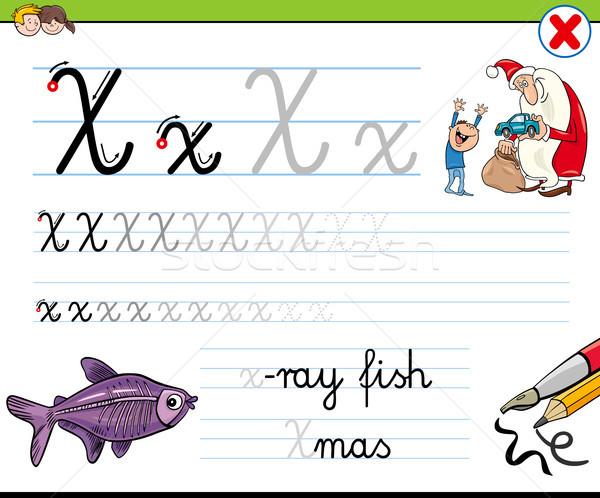 how to write letter X worksheet for kids Stock photo © izakowski
