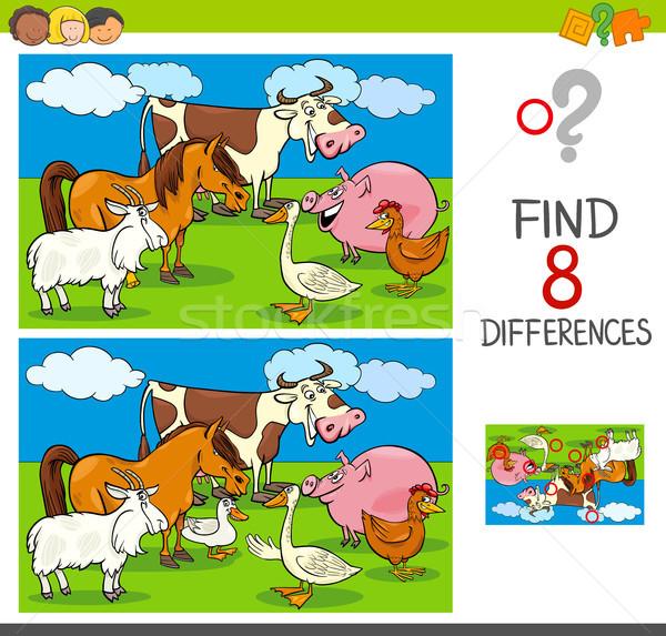 Différences activité cartoon illustration Photo stock © izakowski
