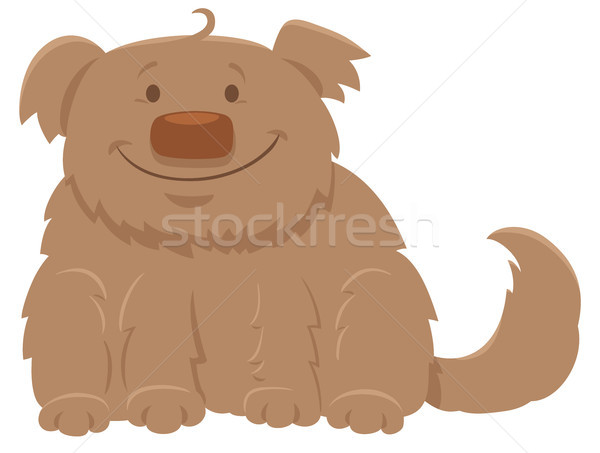 happy shaggy dog cartoon character Stock photo © izakowski