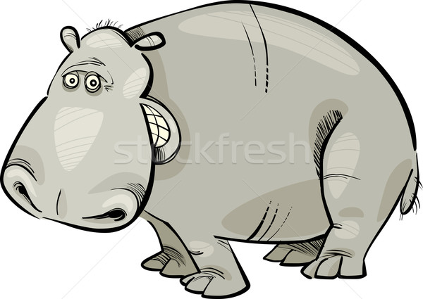 cartoon Hippopotamus Stock photo © izakowski