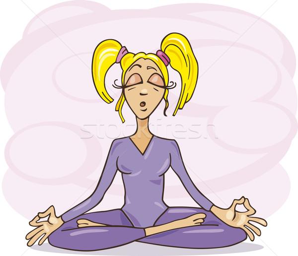 Stock photo: Meditating girl