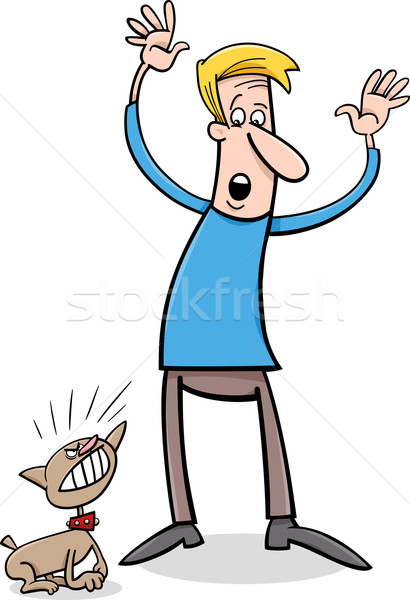 bad puppy cartoon illustration Stock photo © izakowski