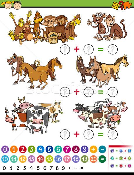 math game cartoon illustration Stock photo © izakowski