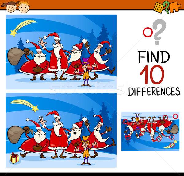 christmas find differences task Stock photo © izakowski