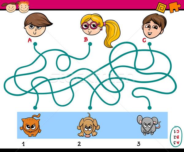 maze puzzle task for children Stock photo © izakowski