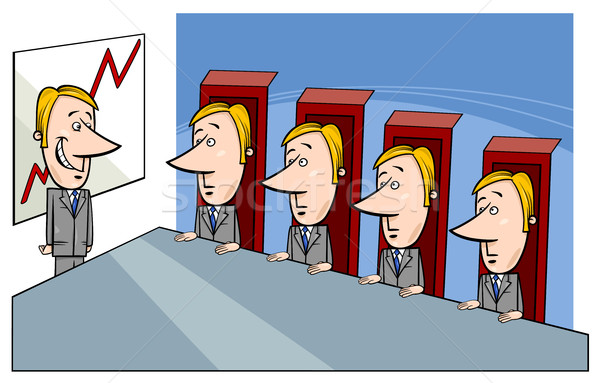 board of directors cartoon Stock photo © izakowski