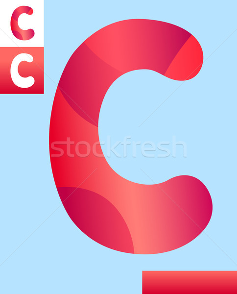 letter c graphic design illustration Stock photo © izakowski
