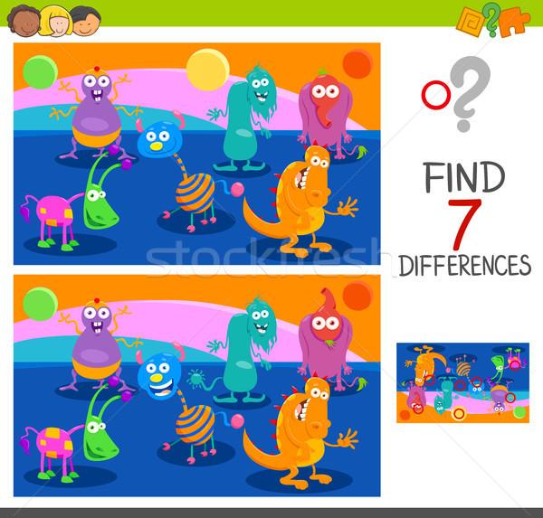 Différences jeu monstre cartoon illustration Photo stock © izakowski